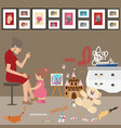 messy untidy home kids children paint all over vector image vector image