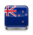 Metal icon of New Zealand vector image vector image