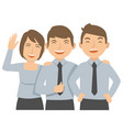 office workers laugh and happy vector image vector image