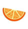 orange sugar jelly icon cartoon style vector image
