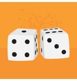 pair dices vector image