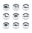 Perfect set of fish farming logos vector image vector image
