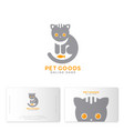 pet goods logo meal toys online shop business card vector image vector image