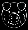 pig head symbol of the new year vector image vector image