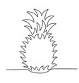 pineapple single solid line vector image vector image
