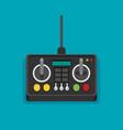 radio remote control flat vector image