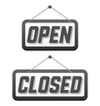 Retro signs Open and Closed vector image vector image
