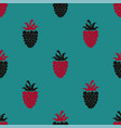 seamless pattern with blackberry and raspberry vector image vector image