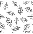 seamless pattern with oak leaf vector image