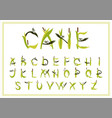 set of decorative alphabet reed vector image vector image