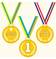 Set of signs medal vector image vector image