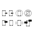 set of telephone sms icons vector image