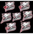 set of wolf sports labels vector image vector image