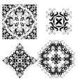 set ornate ornaments vector image vector image