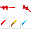 set with red bows and colored ribbons vector image vector image