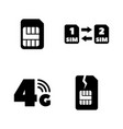 sim card mobile operator simple related icons vector image vector image