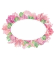 soft oval floral frame vector image vector image