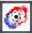 Sport background with watercolor stain vector image