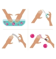 Steps manicure vector image