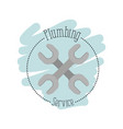 sticker scene of wrench tools crossed plumbing vector image