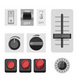 switches flat icons vector image vector image