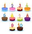Ten Cakes vector image vector image