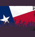 texas state flag with audience vector image vector image