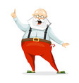the emotional character of santa claus in slippers vector image vector image