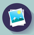 two photos icon - symbol vector image vector image
