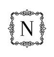 vintage decor logo vector image vector image