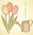 Wateringcan Tulip vector image vector image