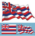 waving flag of the state of hawaii vector image vector image