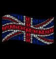 waving great britain flag collage of family child vector image vector image