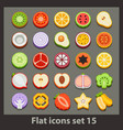 flat icon-set 15 vector image