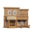 Wooden classic saloon in wild west vector image