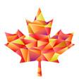 polygon autumn maple leaf vector image