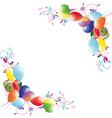 floral balloon vector image