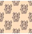 hand drawn houses seamless vector image