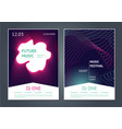 party music posters design future electronic vector image