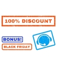 100 Percent Discount Rubber Stamp vector image