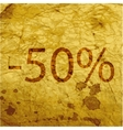 50 percent discount icon symbol Flat modern web vector image vector image