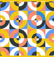 abstract circles and square seamless pattern vector image vector image