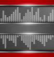 Abstract digital equalizer background vector image