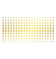 aircraft golden halftone pattern vector image vector image