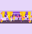 birthday party flat banner vector image vector image