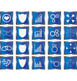 Blue concept buttons vector image vector image