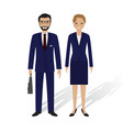 business people male and female office employees vector image vector image