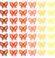 butterfly wallpaper on white background vector image vector image