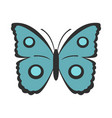 butterfly with circles on wings icon flat style vector image