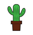 cactus in pot icon image vector image vector image